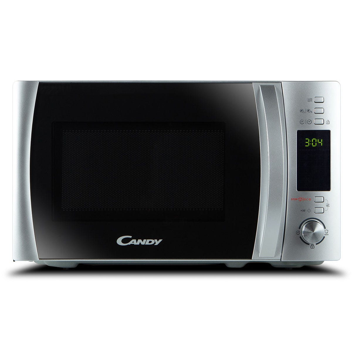 Candy CBWM30DS 900W Freestanding Digital 30L Microwave - Silver with Mirror Door