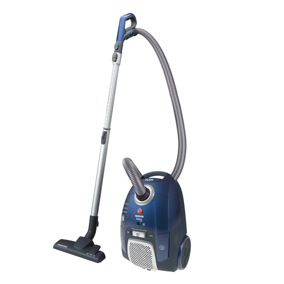 Hoover TX50PET Candy Telios Extra Bagged 550W Cylinder Vacuum Cleaner - Blue