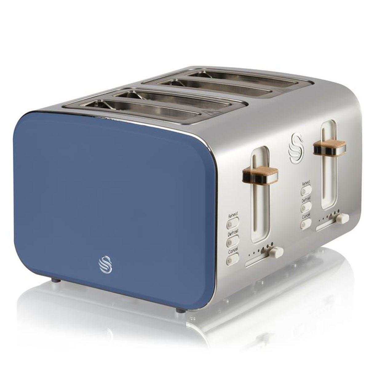 Swan ST14620BLUN 4-Slice Nordic Toaster - Nordic Blue