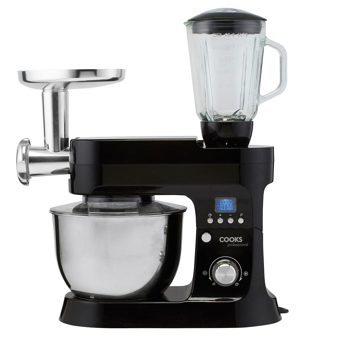 Cooks Professional G1183 MK5 1200W Multi-Functional Stand Mixer - Black