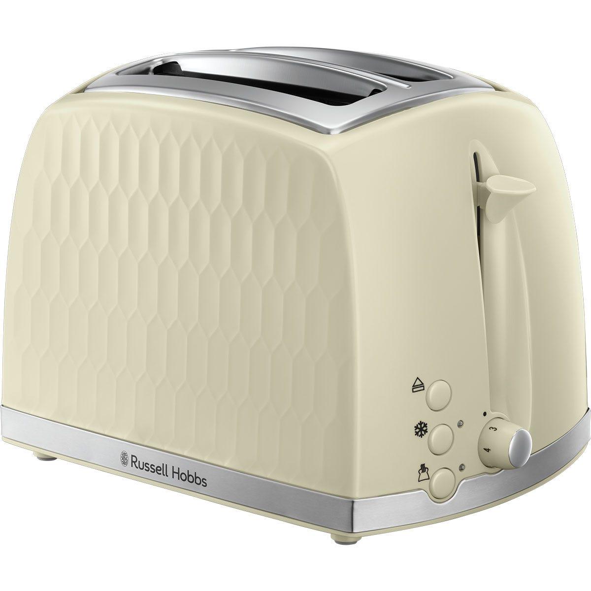 Russell Hobbs 26062 Honeycomb 2-Slice Toaster - Cream