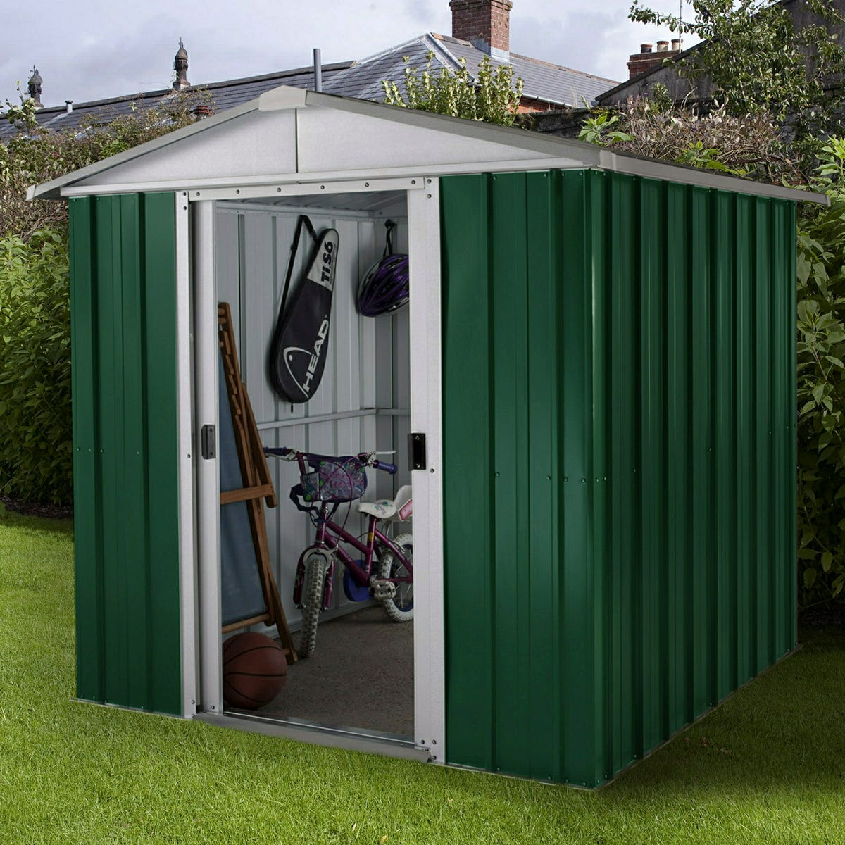 Yardmaster Emerald No Floor Metal Apex Shed 6 x 6ft