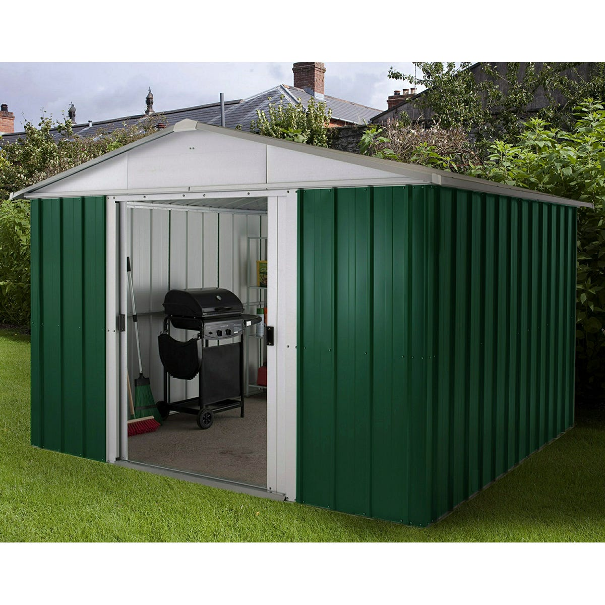 Yardmaster Emerald No Floor Metal Apex Shed 10 x 10ft