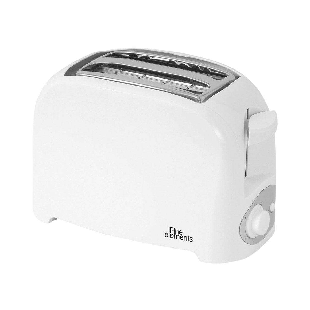 Fine Elements SDA1008GE 870W 2-Slice Toaster - Pure White