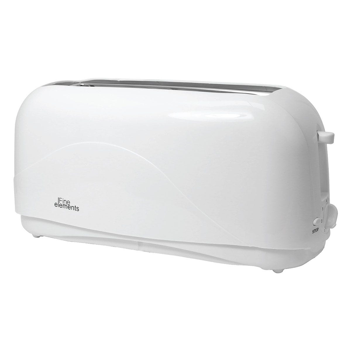 Fine Elements SDA1011GE Long 4-Slice Toaster - Pure White
