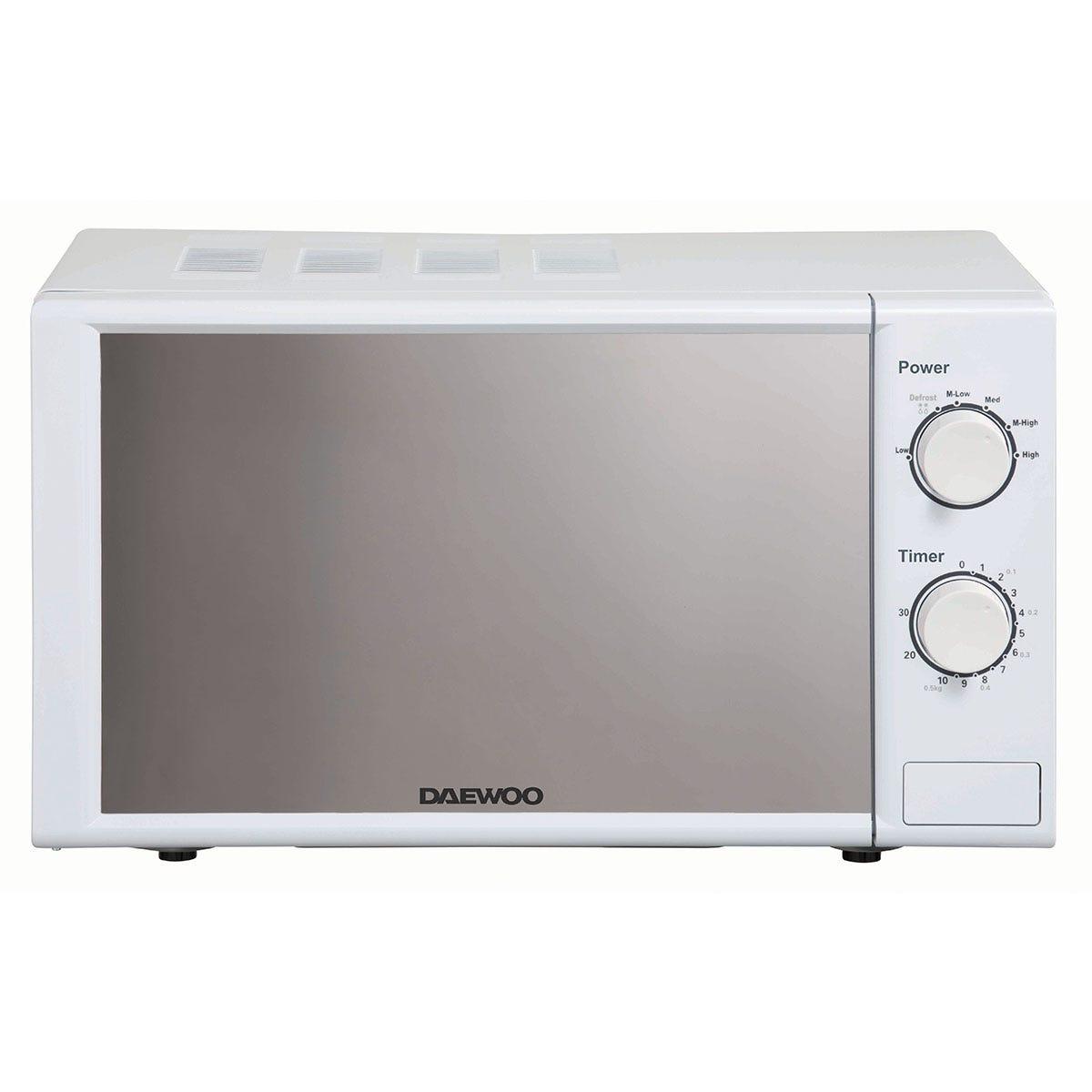 Daewoo SDA2084GE 20L 800W Manual Microwave - White