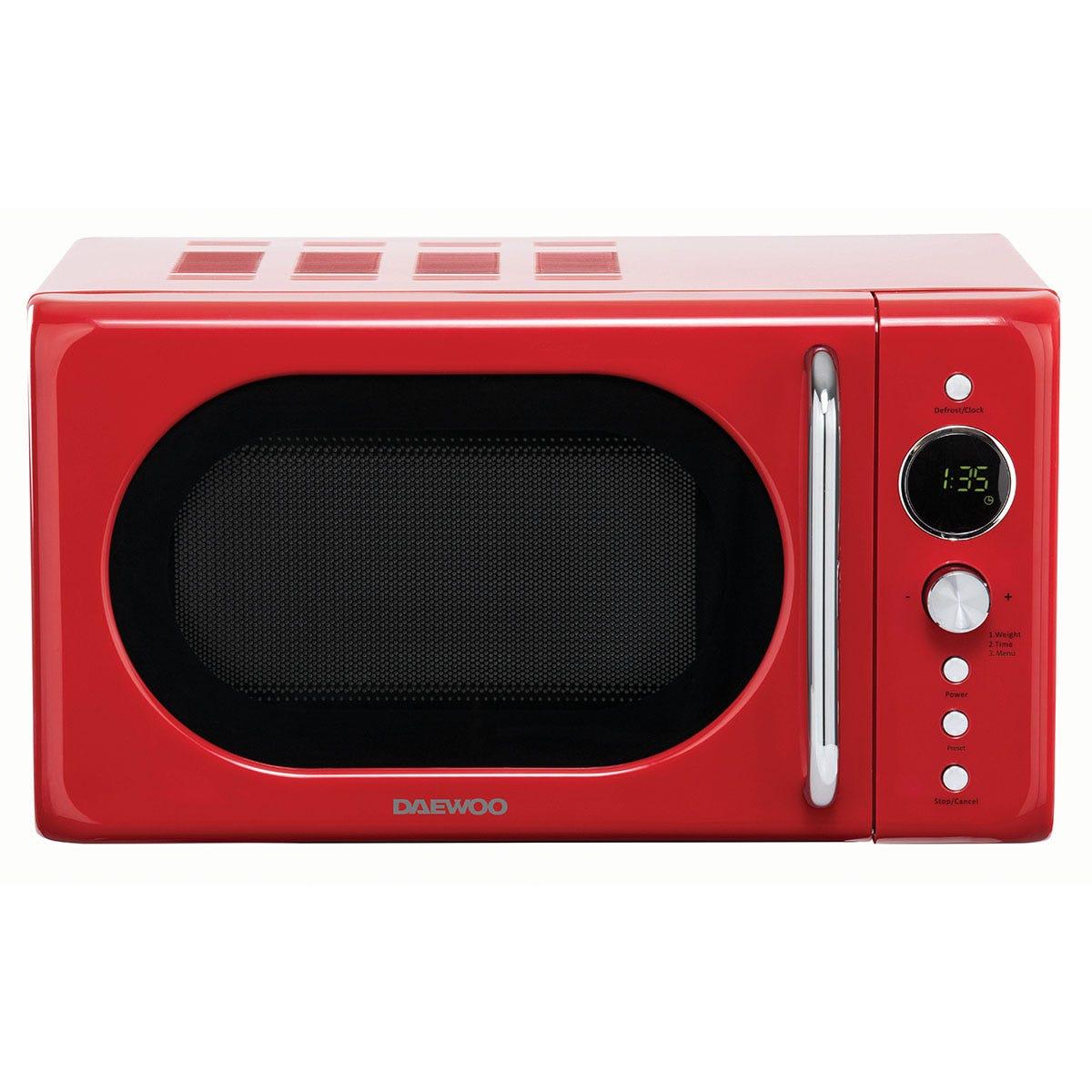 Daewoo SDA2086GE 20L 800W Manual Microwave - Red