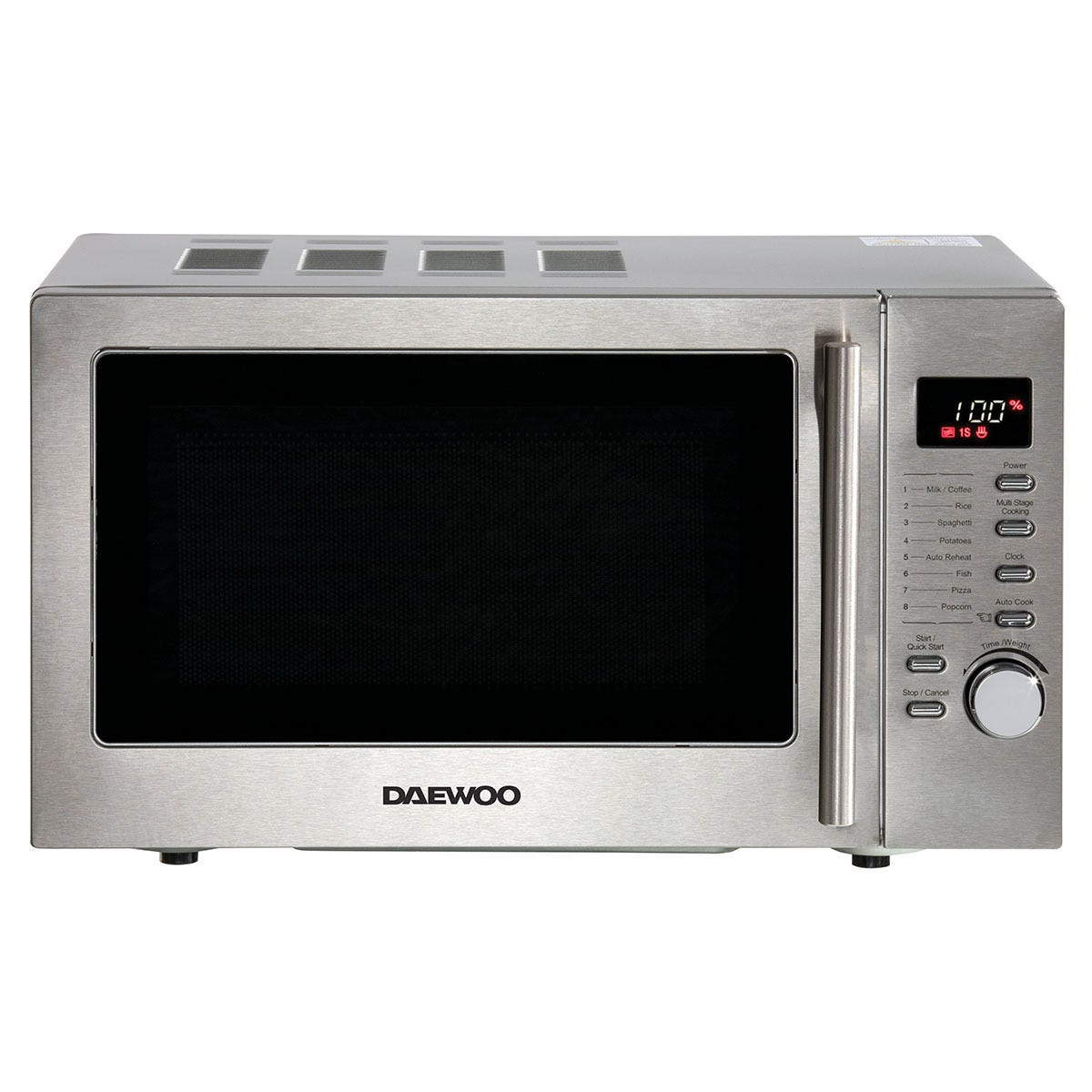 Daewoo SDA2088GE 20L 800W Manual Microwave with Grill Function - Silver