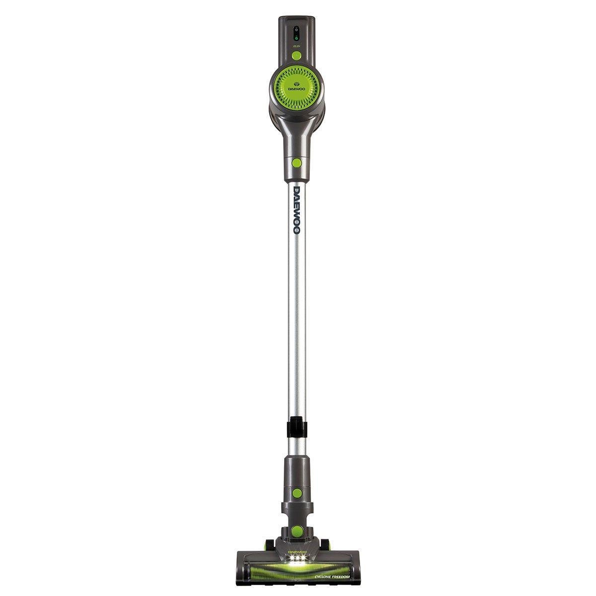 Daewoo FLR00010GE Cyclone Pro 120W Cordless Handheld Vacuum Cleaner - Grey, Black, and Green