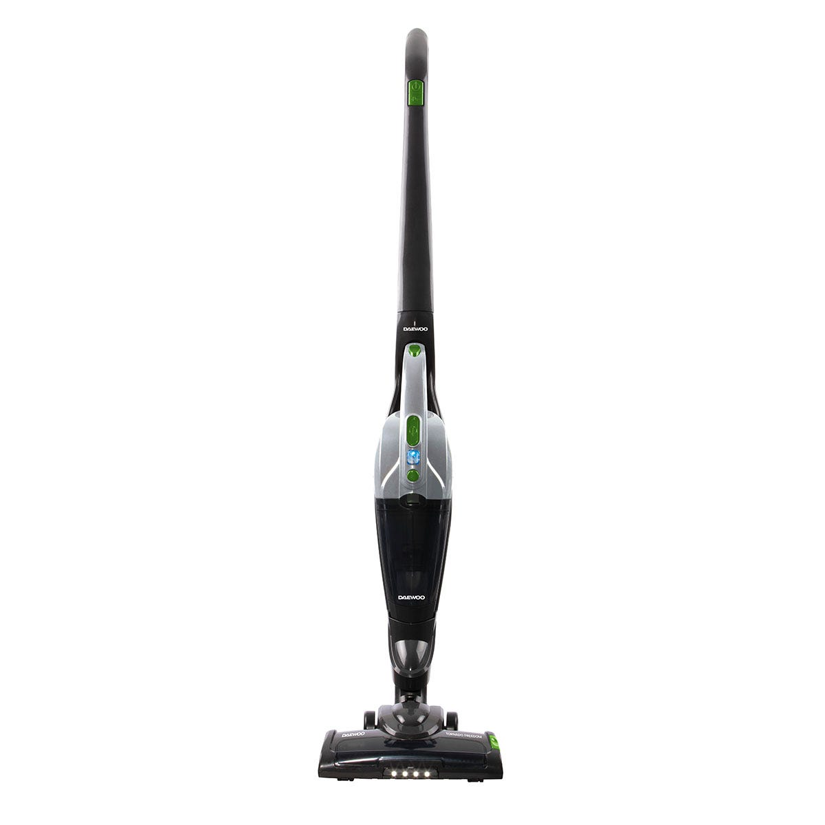 Daewoo FLR00044GE Tornado Freedom 22.2V Cordless 2-in-1 Upright and Handheld Vacuum Cleaner - Grey, Green, and Black