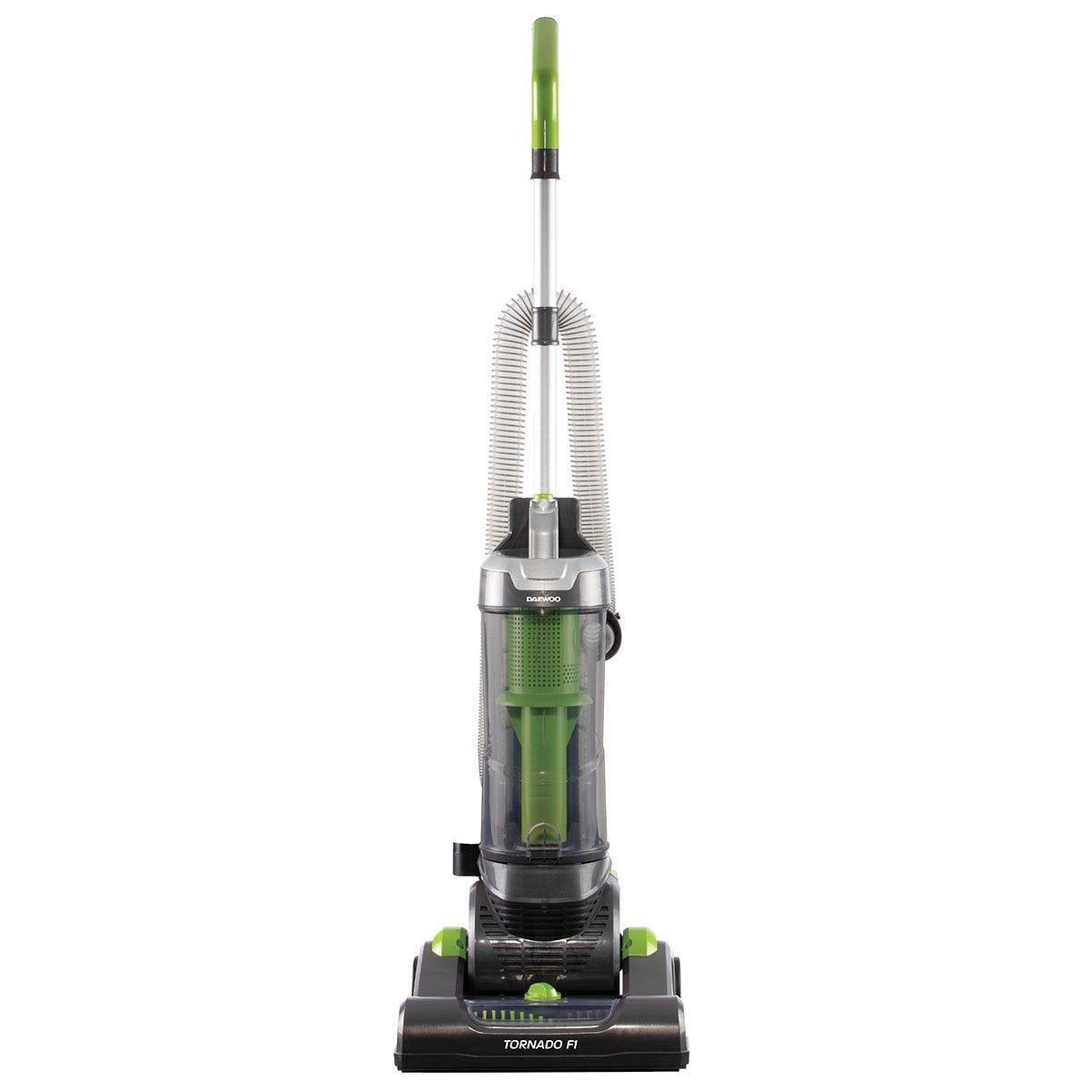Daewoo FLR00049GE Tornado F1 750W Upright Vacuum Cleaner - Grey, Green, and Black