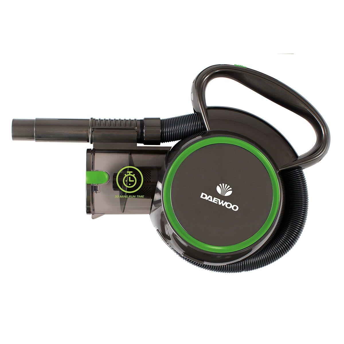Daewoo FLR00013GE Compact Pro 18.5V Flexi-Hose Handheld Vacuum Cleaner - Grey, Green, and Black