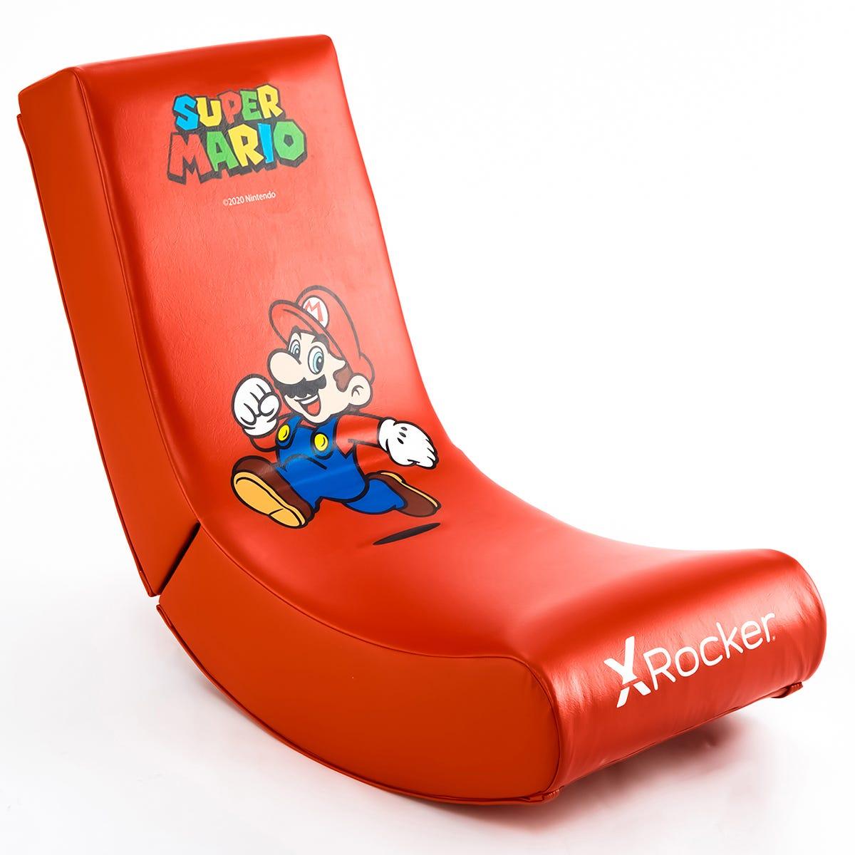 X Rocker X-Rocker Nintendo Video Rocker Foldable Gaming Chair - Official Super Mario Bros - Mario Jump