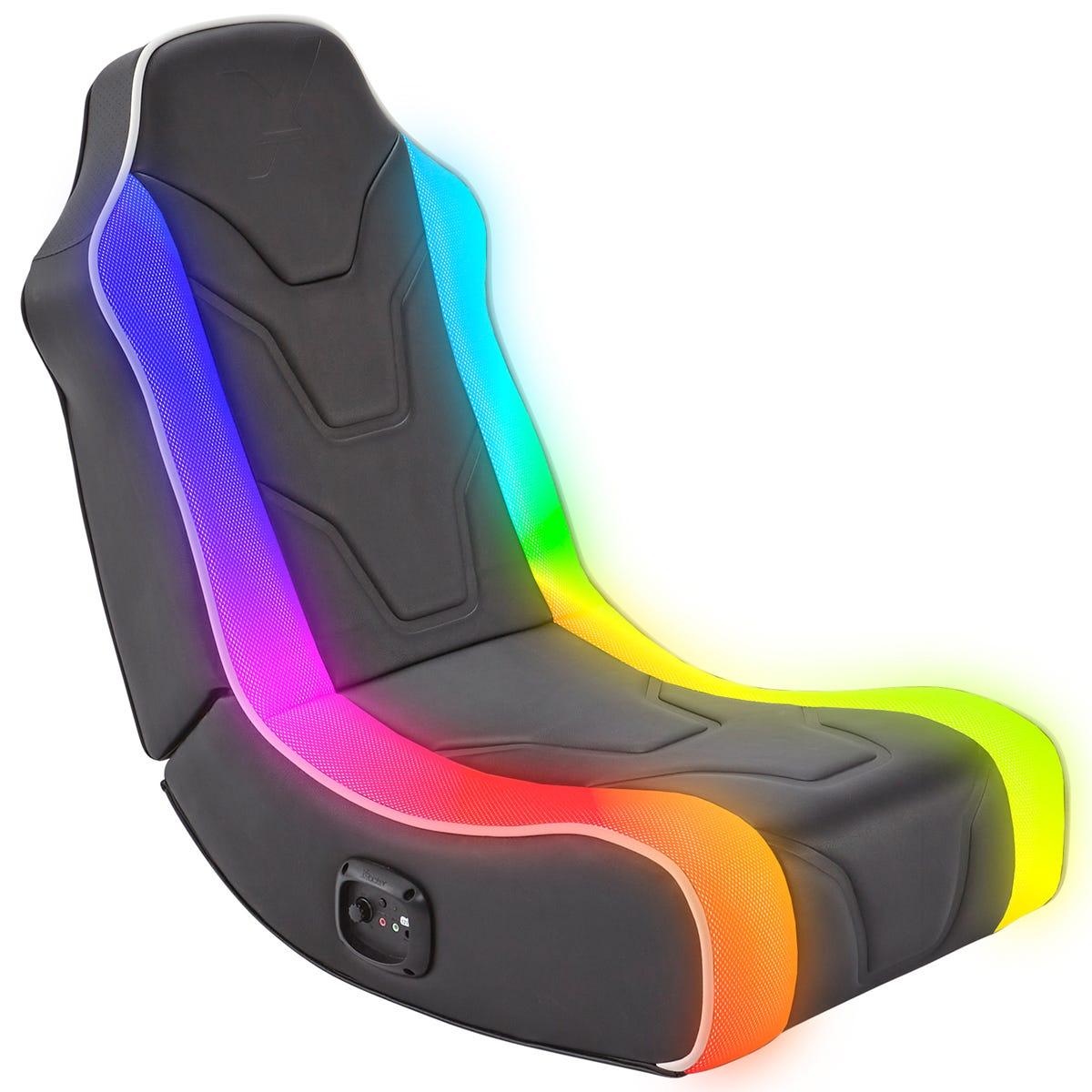 X Rocker X-Rocker Chimera RGB LED 2.0 Floor Rocker Foldable Gaming Chair