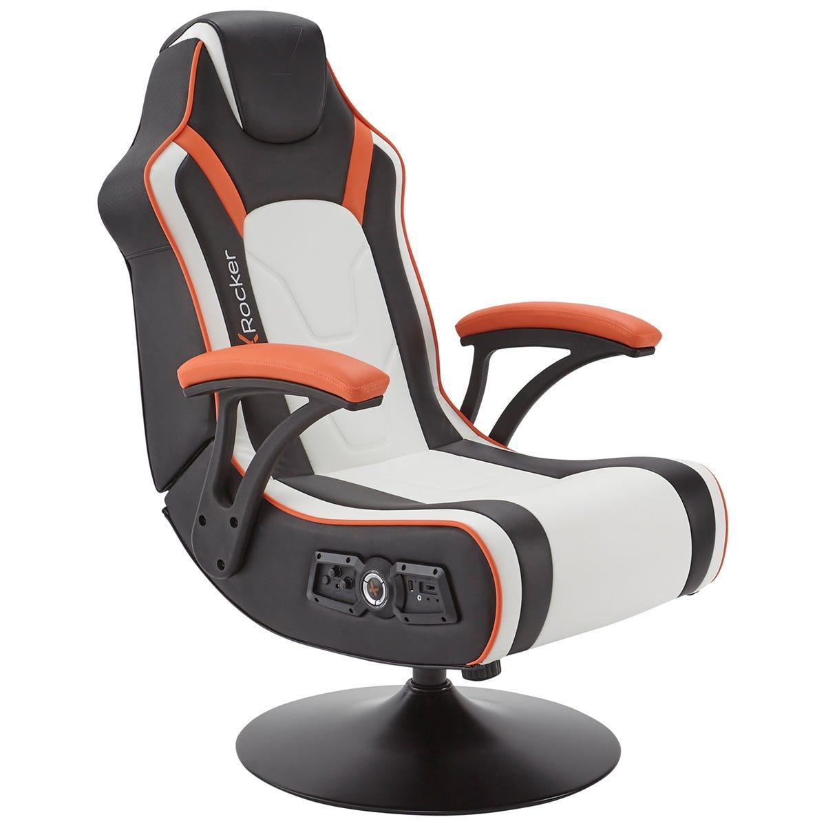 X Rocker X-Rocker Torque 2.1 DAC Pedestal Gaming Chair - White/Black/Orange