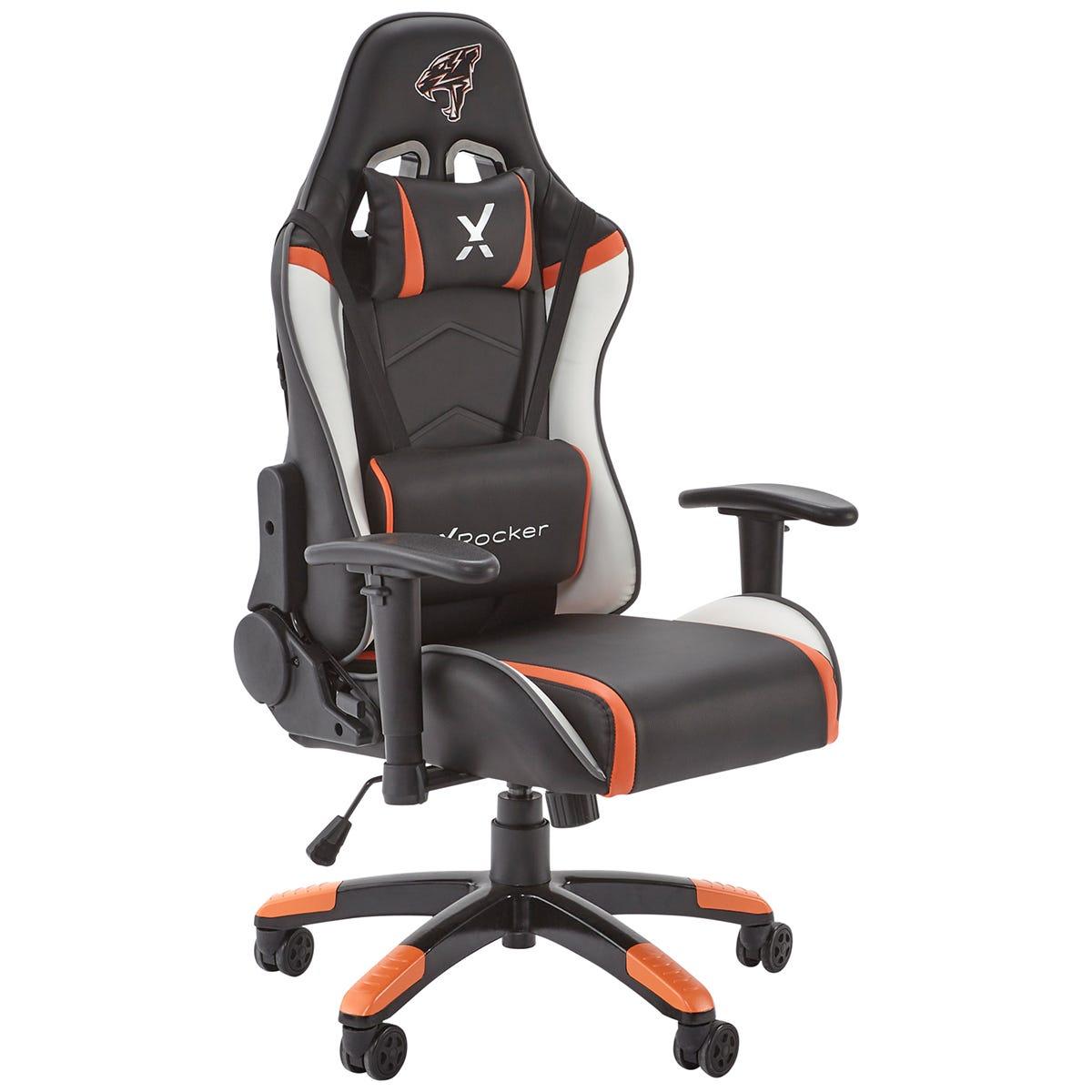 X Rocker X-Rocker Agility Junior PC Gaming Chair - Black/Orange & White