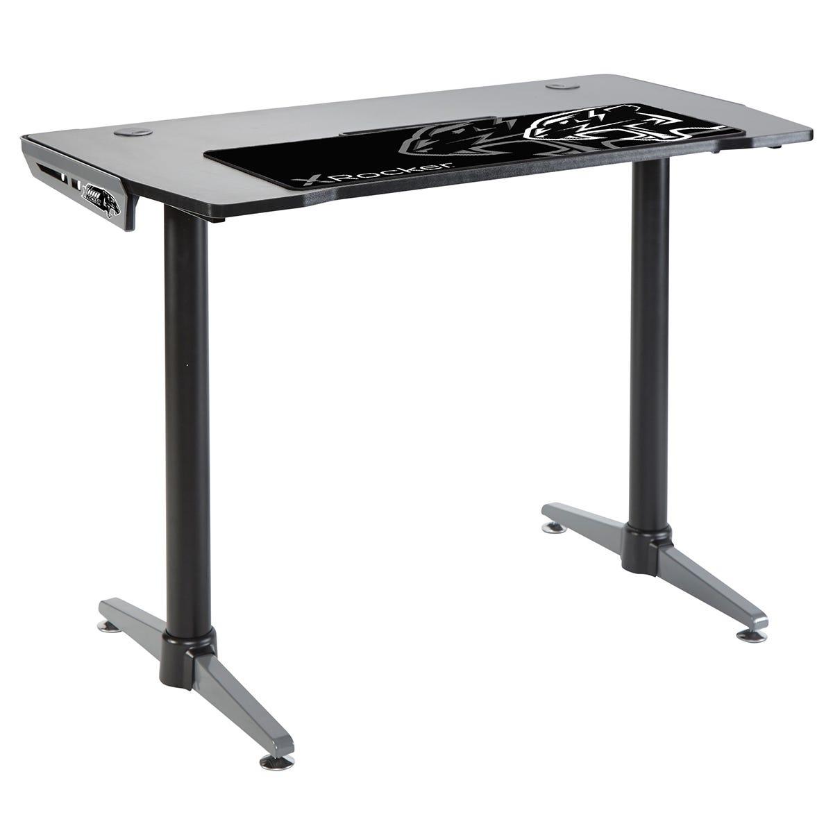 X Rocker X-Rocker Panther Gaming Desk - Grey