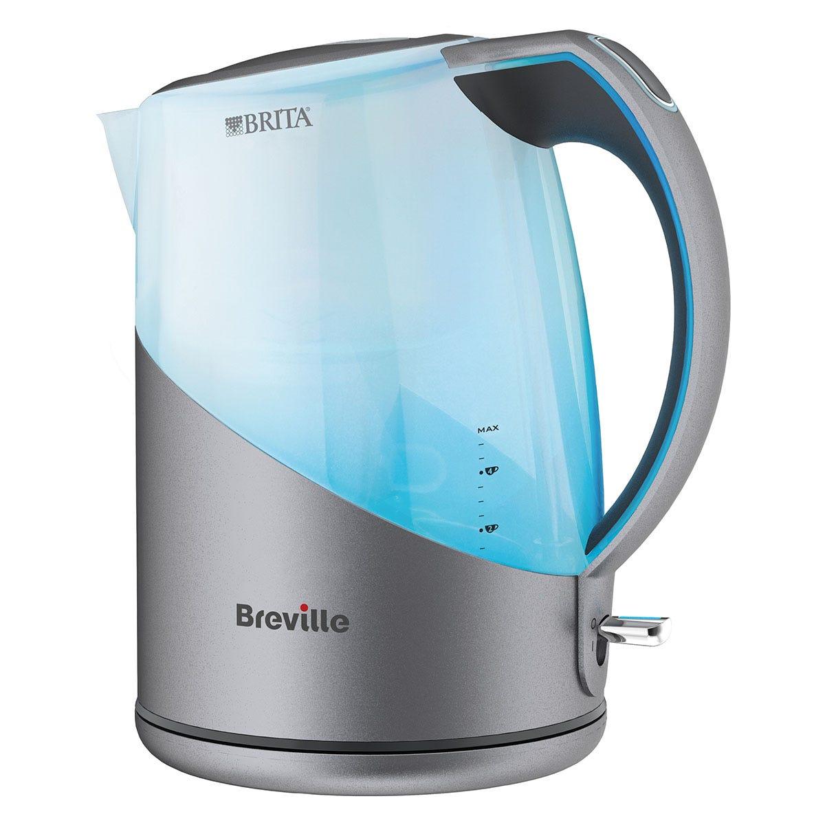 Breville VKJ972 3000W 1L Brita Filter Jug Kettle - Silver