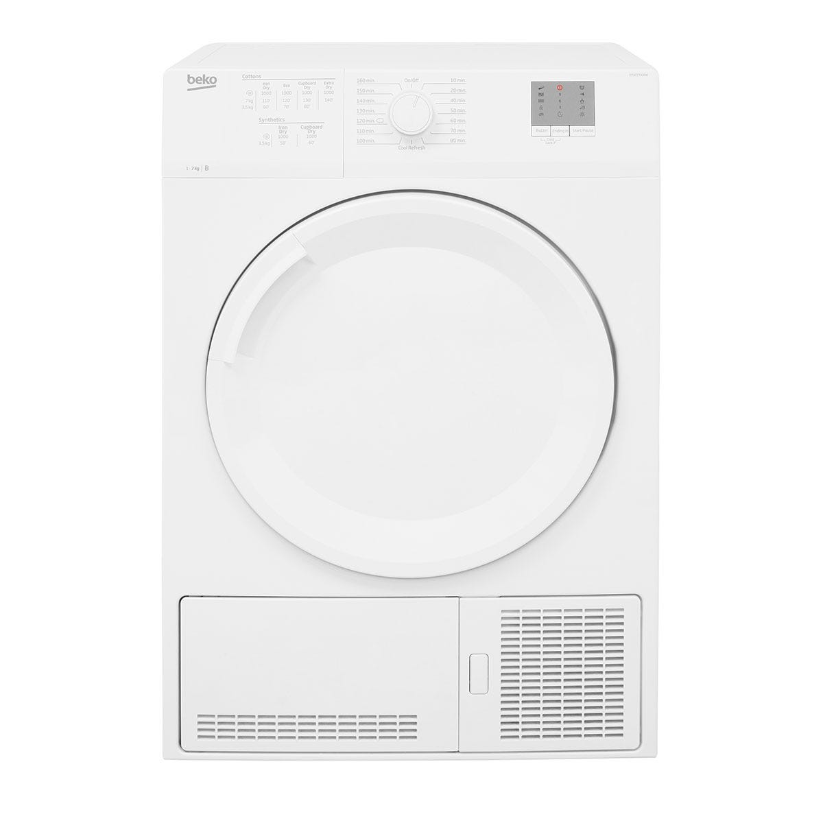 Beko DTGCT7000W Freestanding 7KG Condenser Tumble Dryer - White
