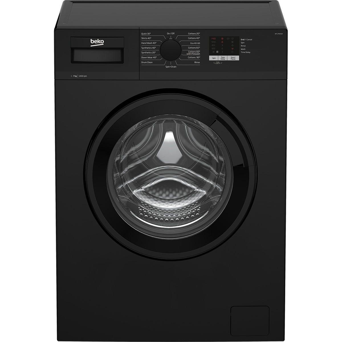 Beko WTL74051B 7kg Washing Machine - Black