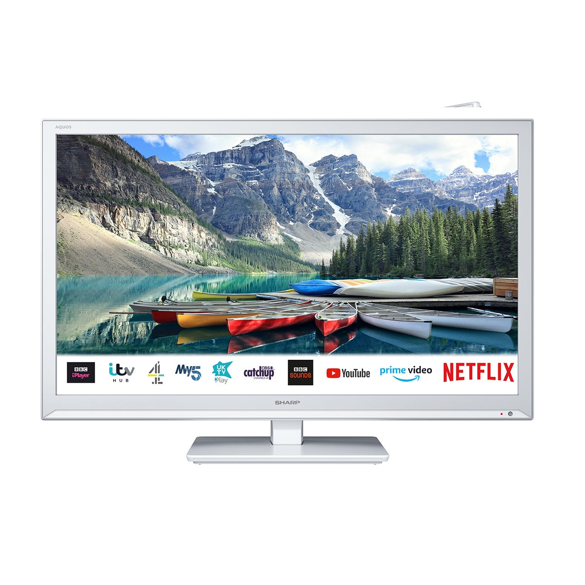 Sharp 11T-C24BE0KR1FW 24 Inch HD Ready LED Smart Freeview Play TV with DVD - White