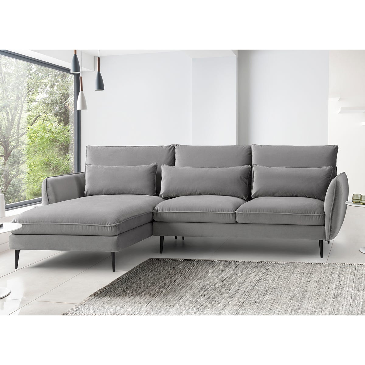 Rhonda Corner Chaise Sofa - Malta Grey