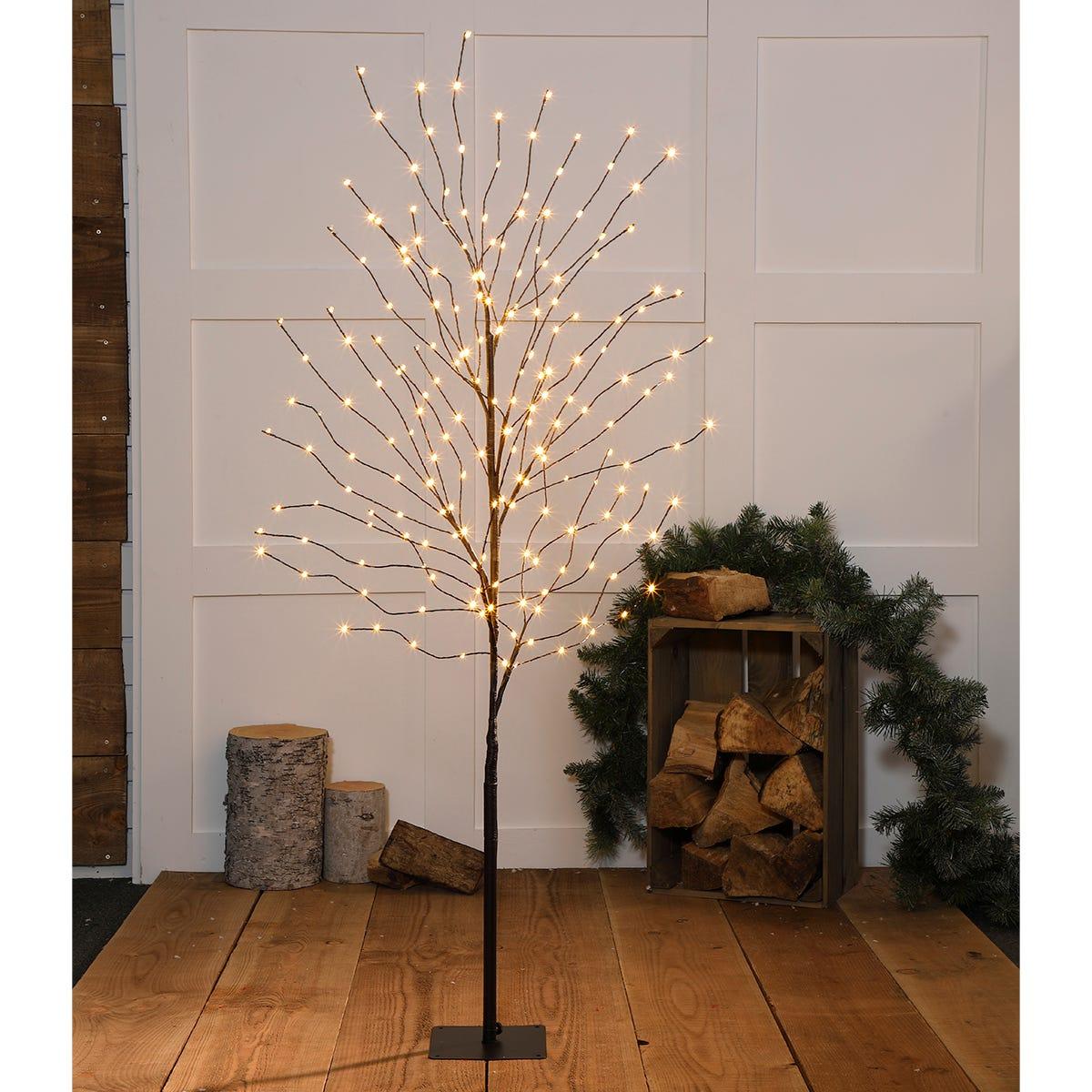 1.5m Noma Antique LED Wispy Black Tree
