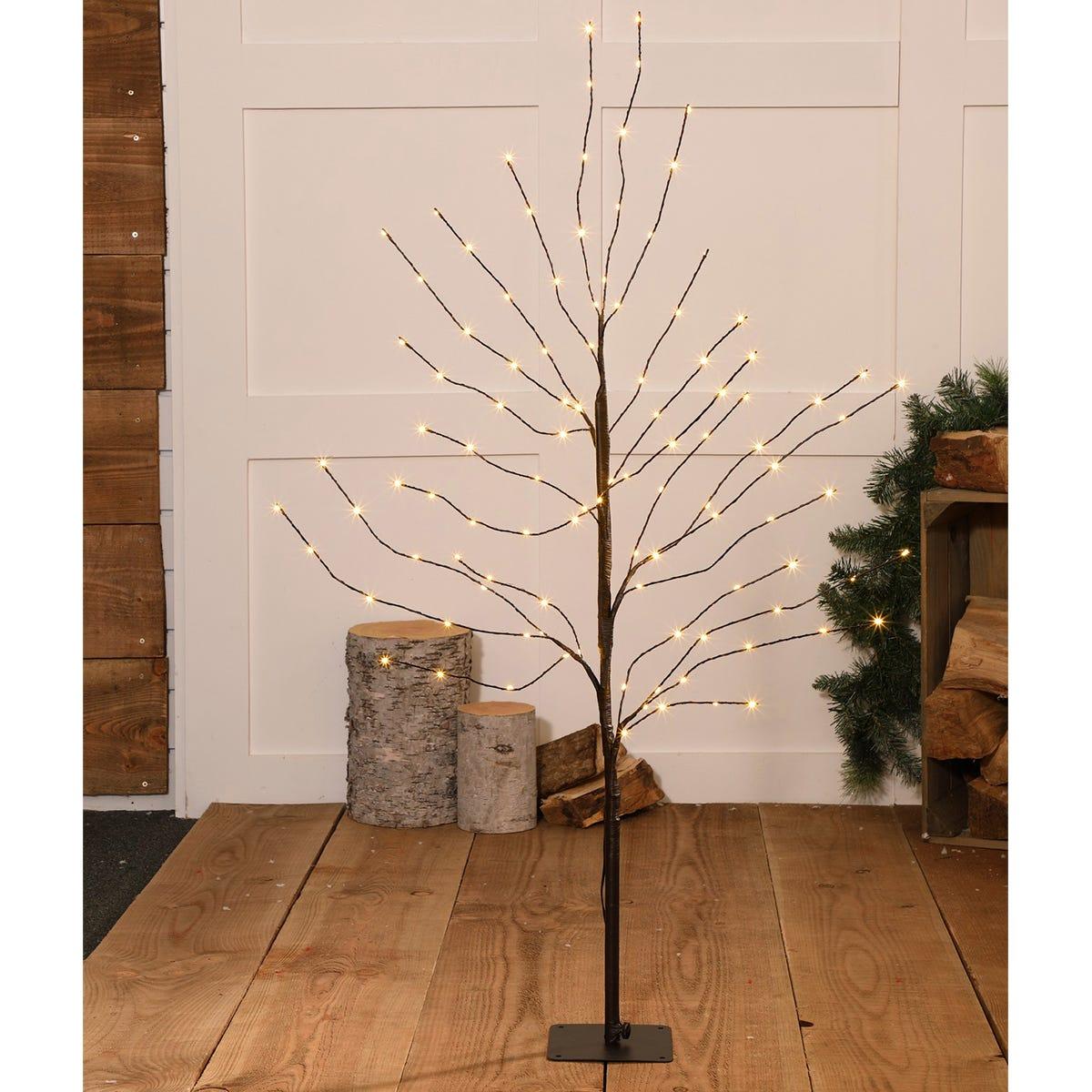 1.2m Noma Antique LED Wispy Black Tree