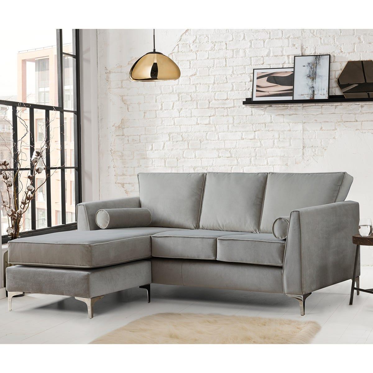 Milan Icon Corner Chaise Sofa Malta Grey