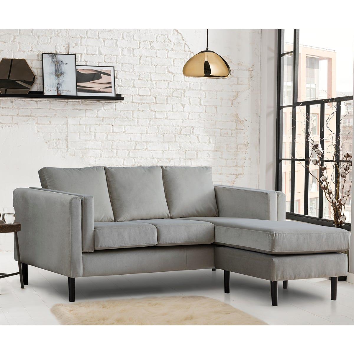 Rio Corner Chaise Sofa - Malta Grey