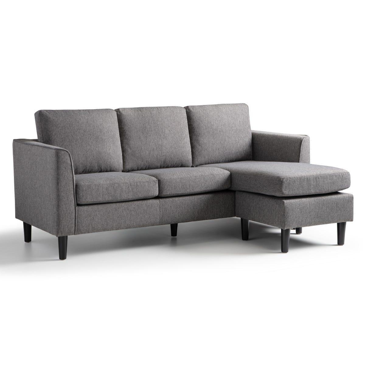 Kara Corner Chaise Sofa Tweed Grey