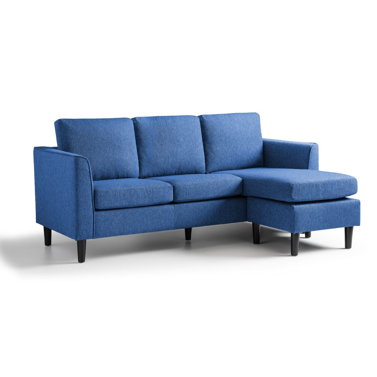 Kara Corner Chaise Sofa Tweed Blue