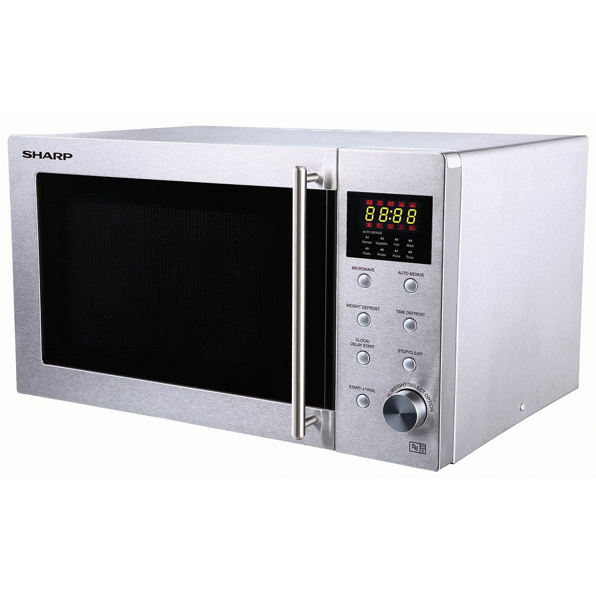 Sharp R28STM Solo 23L 800W Microwave - Stainless Steel