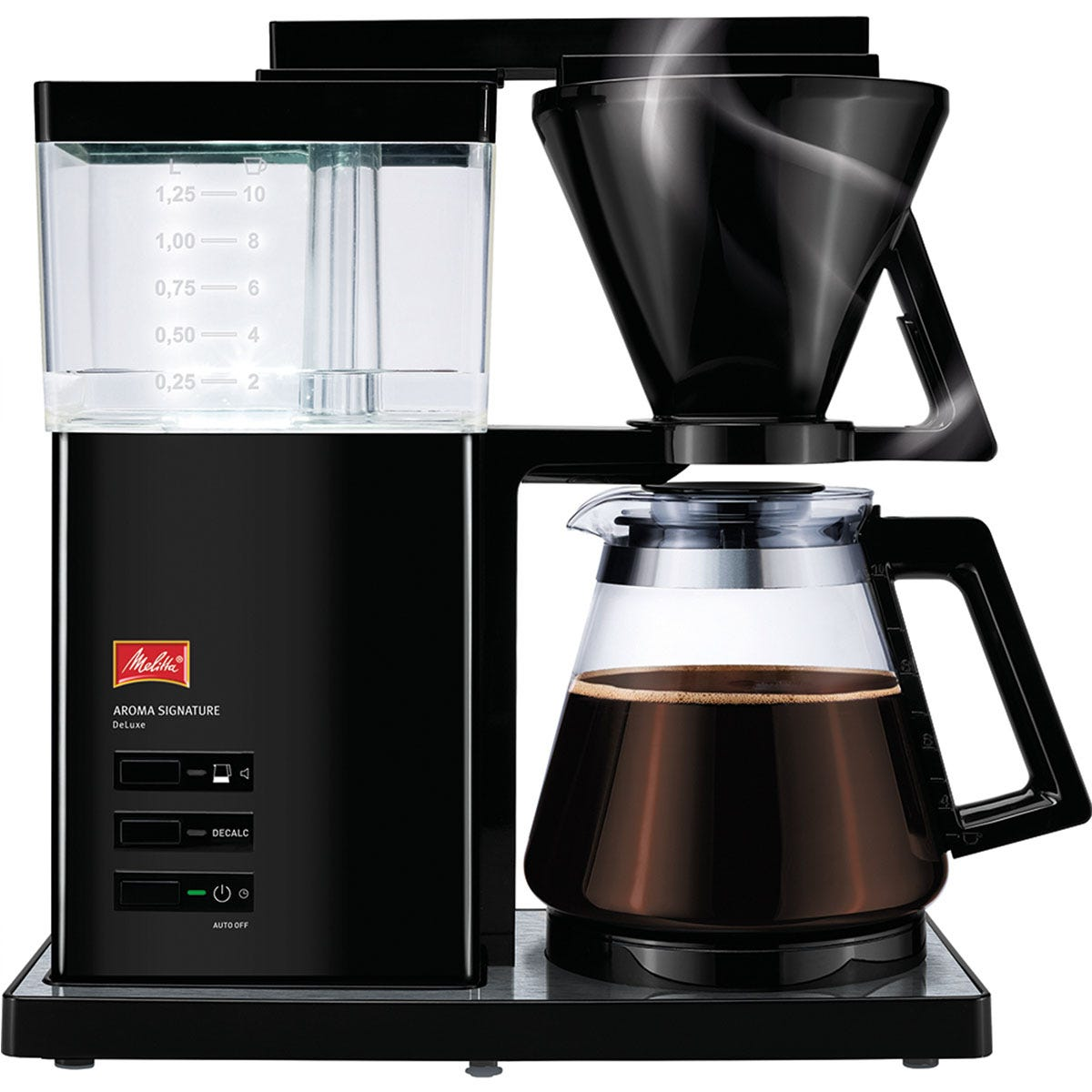 Melitta 6764396 Aroma Signature Deluxe 1800W Filter Coffee Machine- Black