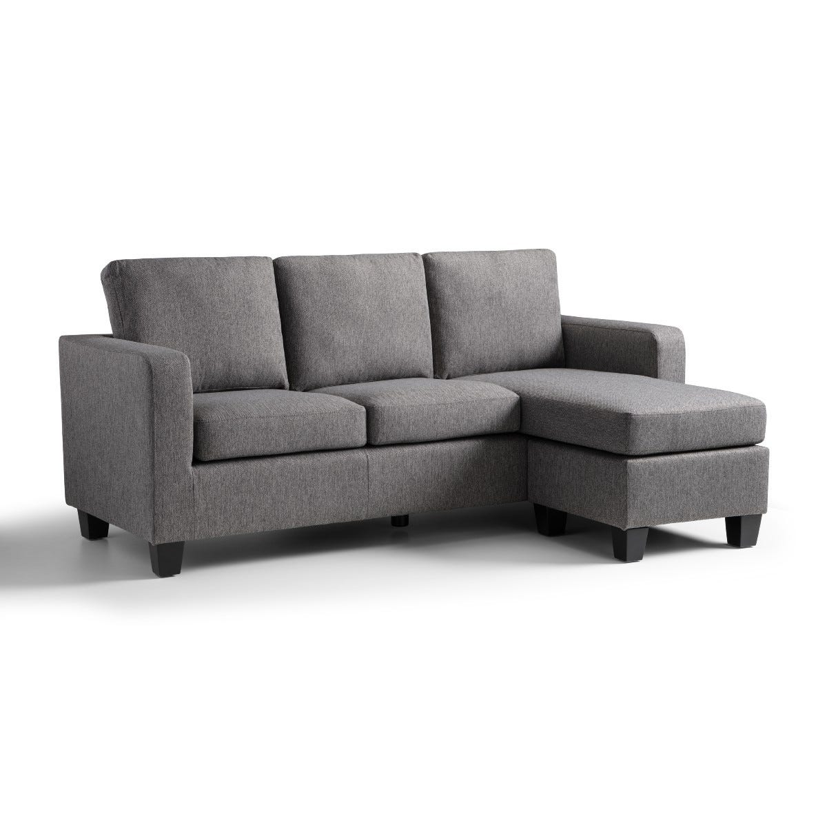 Berlin Corner Fabric Sofa Tweed Grey