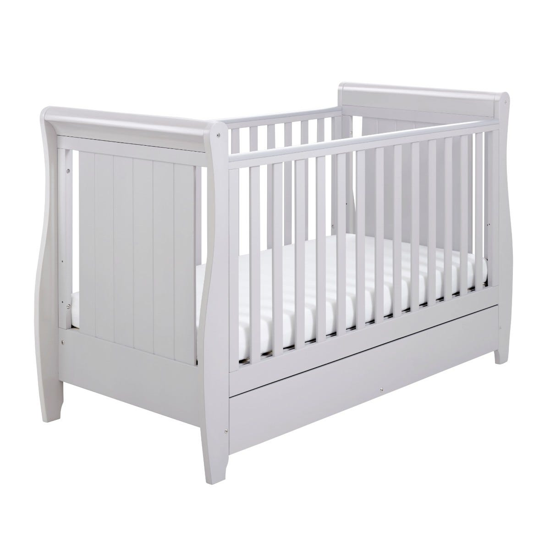 Babymore Stella Drop Side Cot Bed Grey
