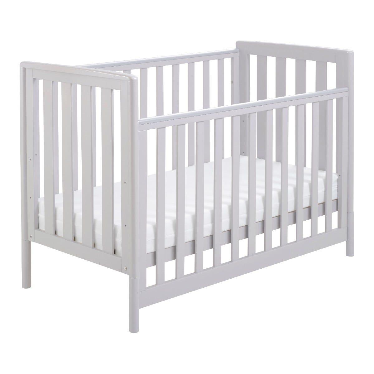 Babymore Ellie Dropside Cot Bed - Grey