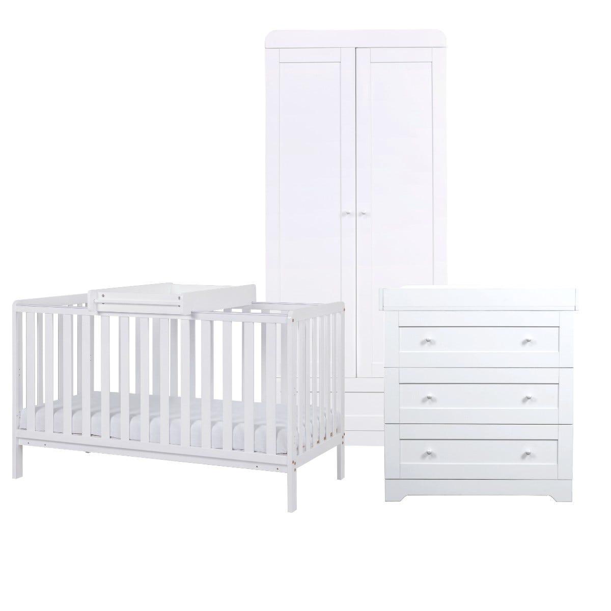 Tutti Bambini Malmo Cot Bed with Rio Furniture 3 Piece Set