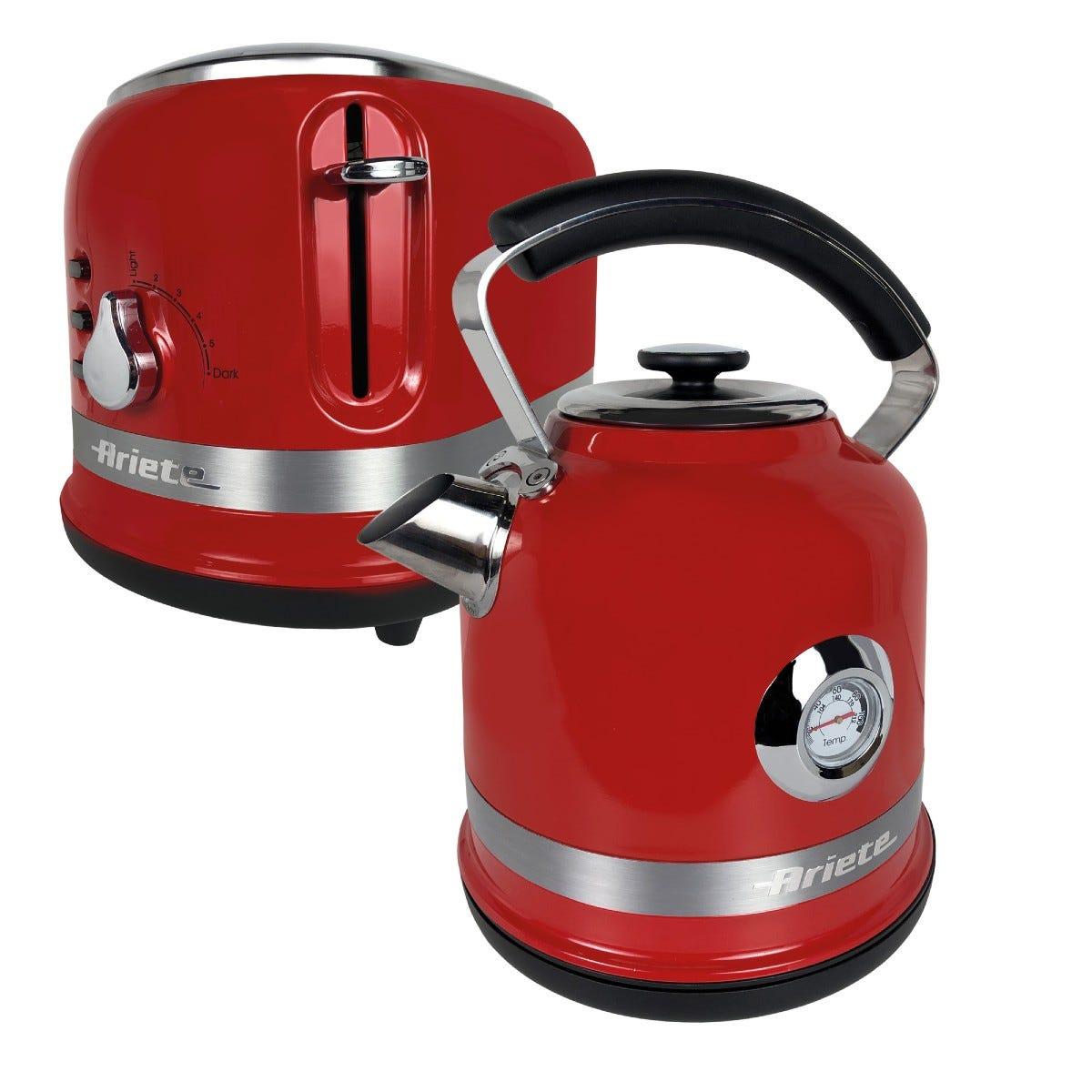 Ariette ARPK30 Moderna 1.7L Kettle and 2-Slice Toaster - Red