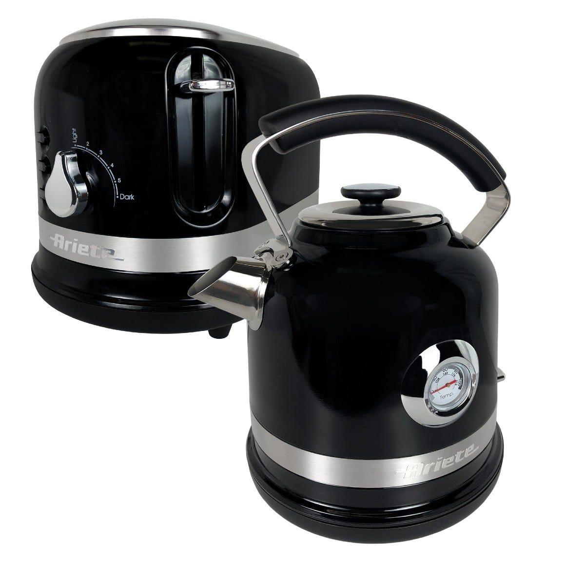 Ariette ARPK31 Moderna 1.7L Kettle and 2-Slice Toaster - Black