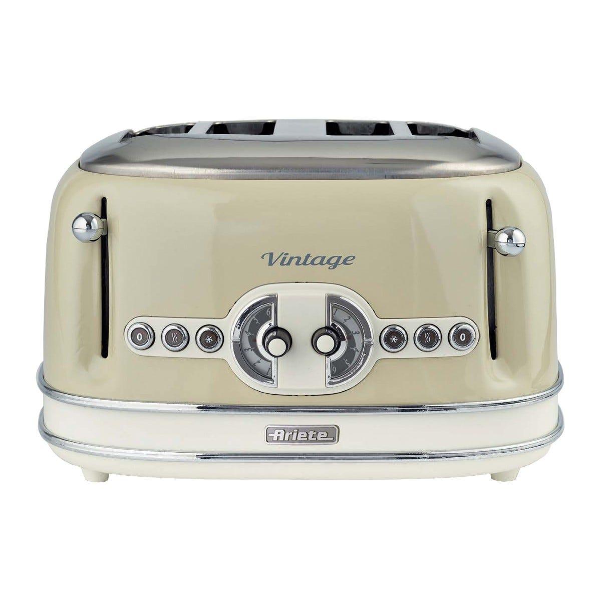 Ariete AR5603 Vintage 4-Slice Toaster - Cream