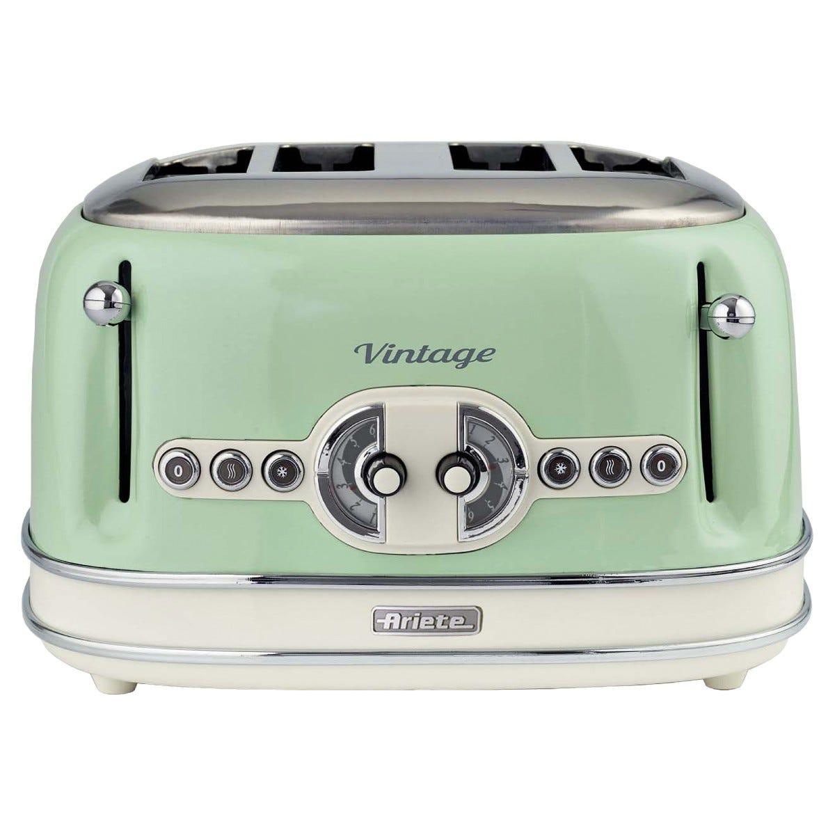 Ariete AR5604 Vintage 4-Slice Toaster - Green
