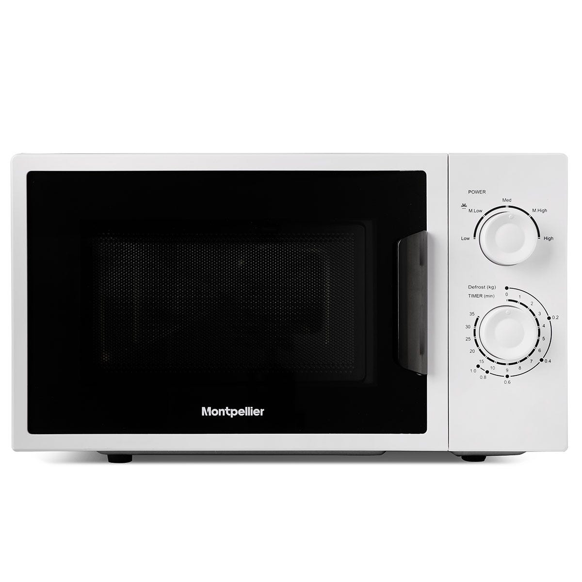 Montpellier MMW22WS 700W 20L Freestanding Solo Microwave - White