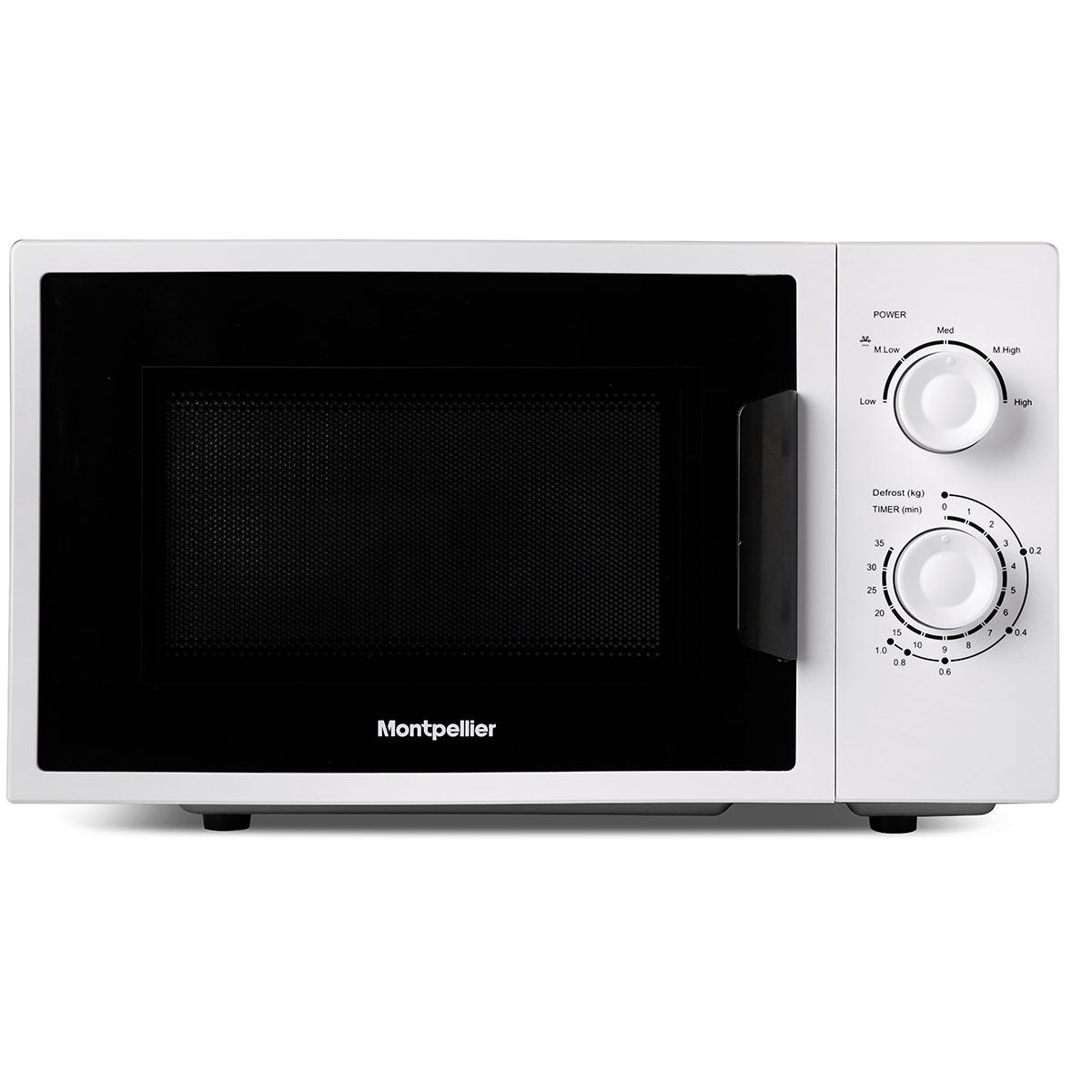 Montpellier MMW21W 700W 20L Freestanding Solo Microwave - White