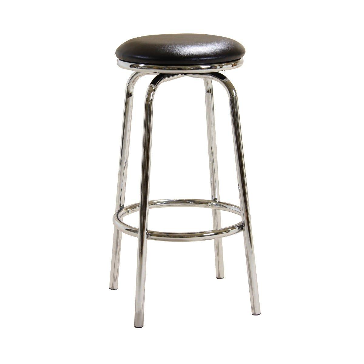 76cm Chrome Bar Stool with Swivel Seat