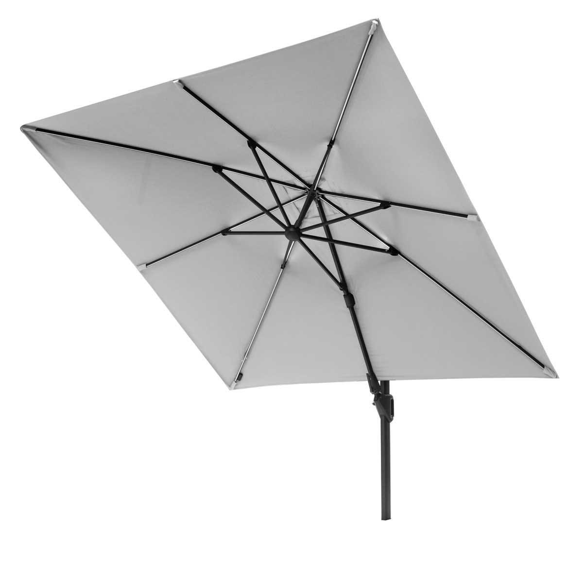 Platinum Challenger T2 Glow 3m Square Parasol (base not included) - Light Grey