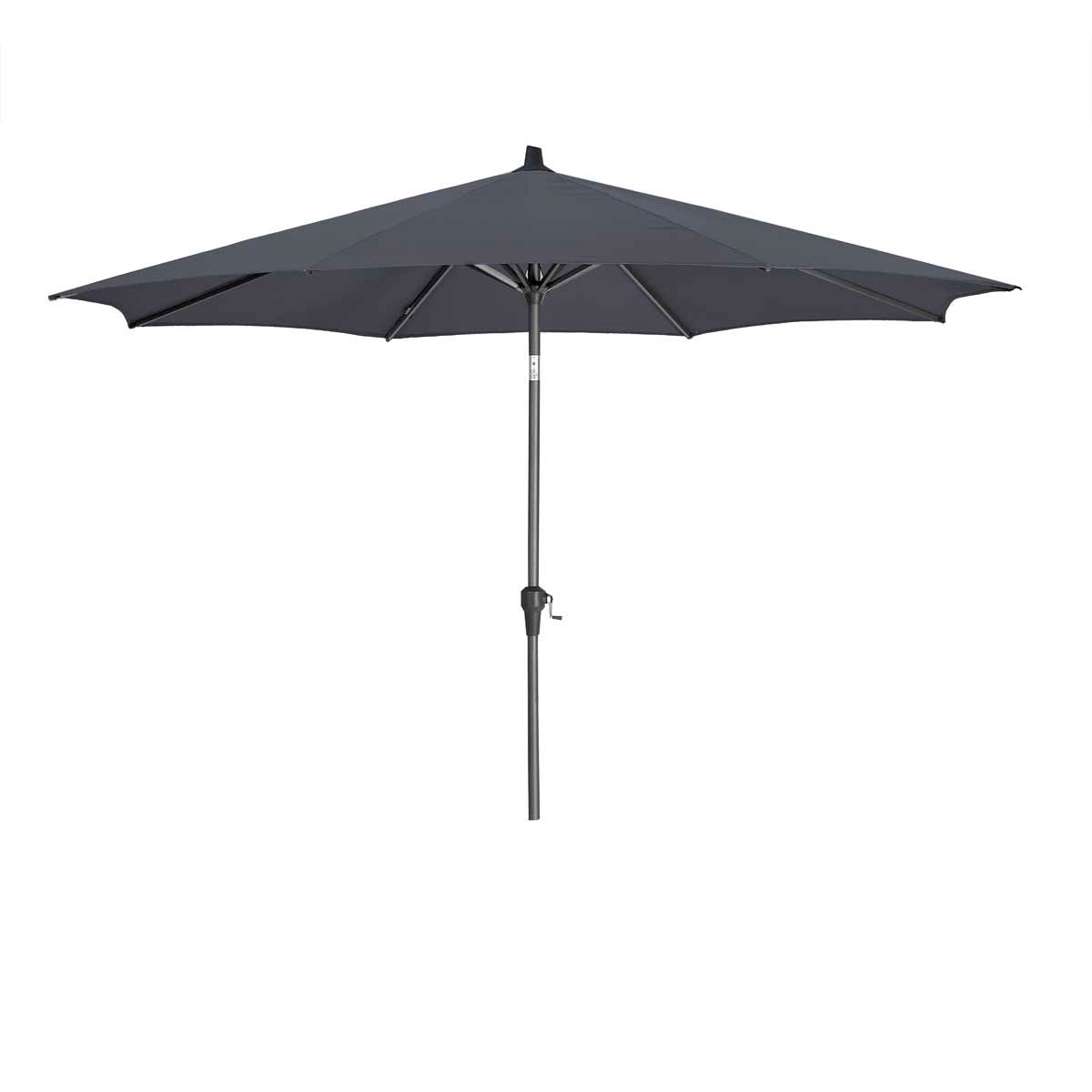 Platinum Riva 3m Round Parasol (base not included) - Anthracite Grey