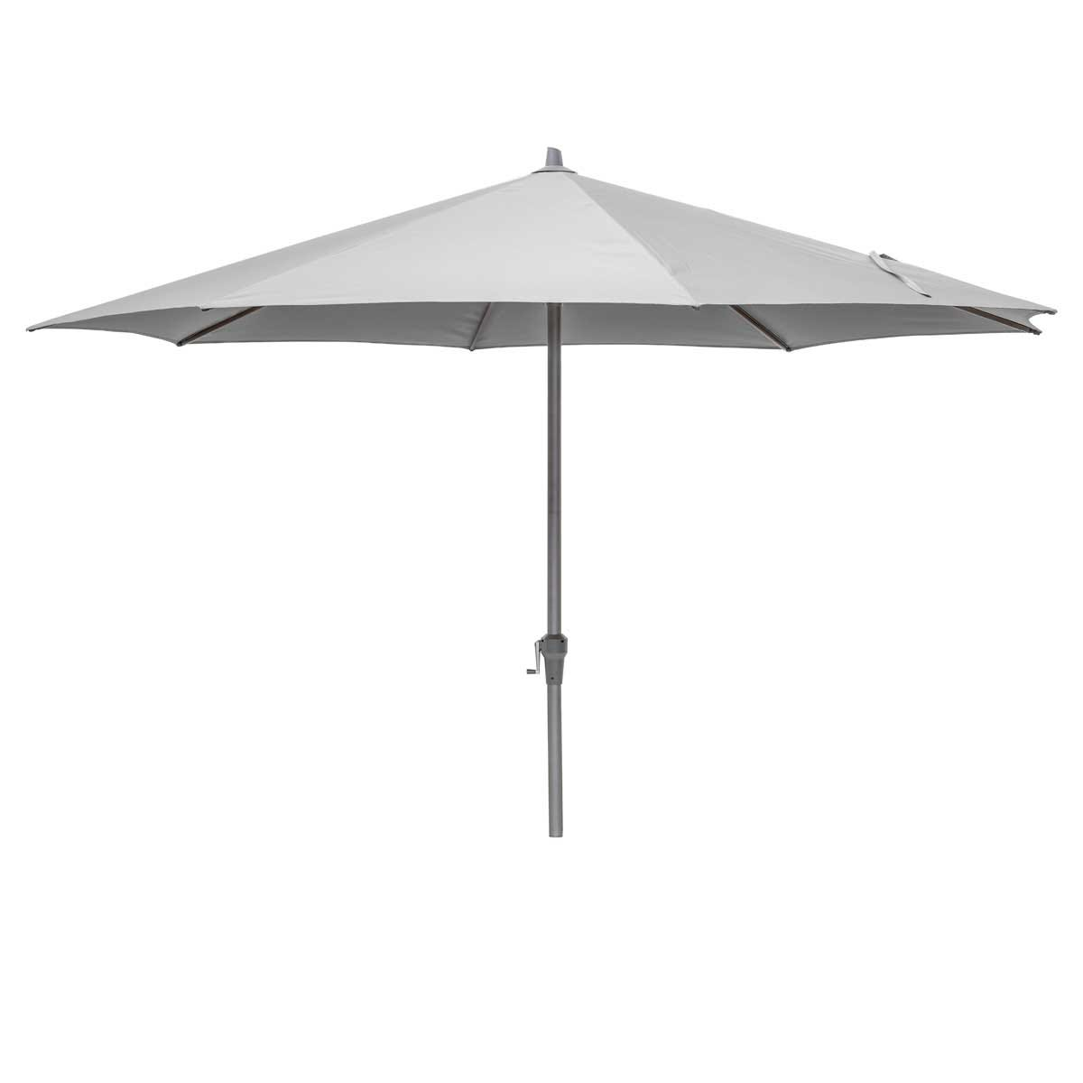 Platinum Riva 3.5m Round Parasol (base not included) - Light Grey