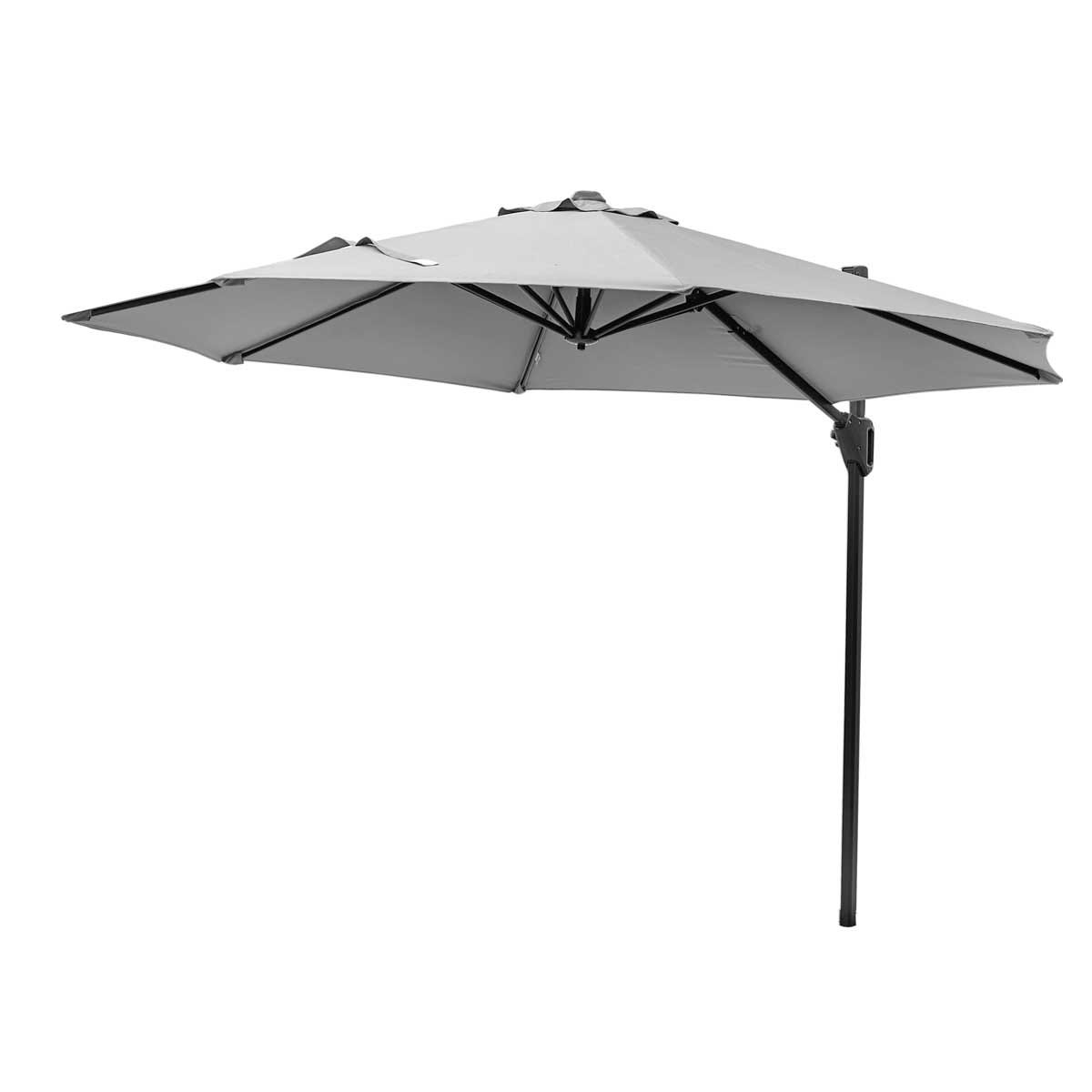 Platinum Voyager T1 3m Round Parasol (base not included) - Light Grey