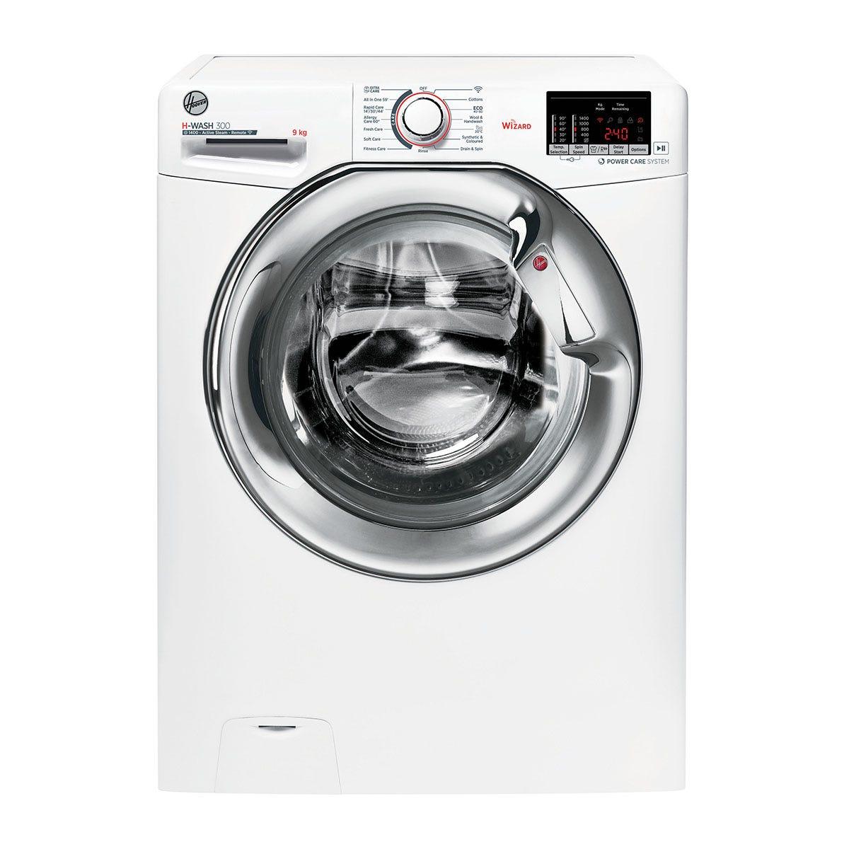 Hoover H3WS495DACE H-Wash 300 9kg 1400rpm Digital WiFi Washing Machine - White/Chrome
